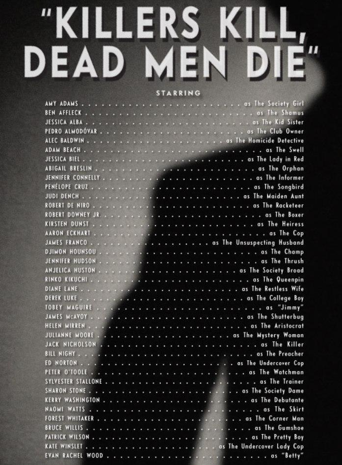 Killers Kill, Dead Men Die - CREDITS