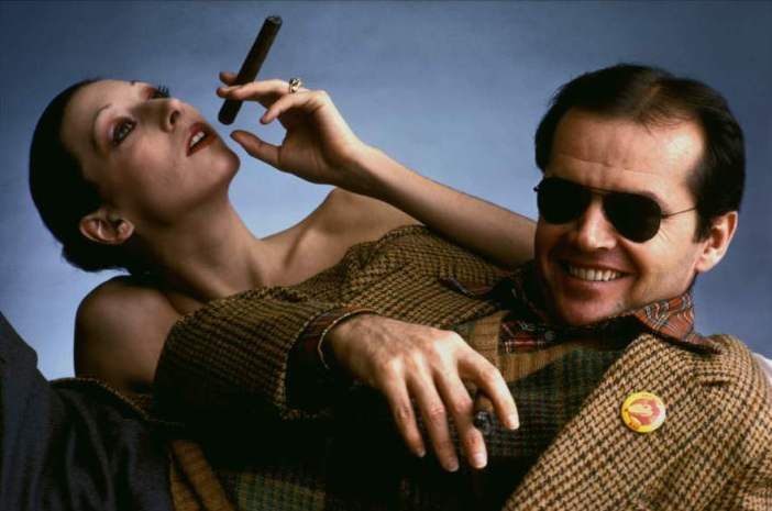Jack Nicholson and Anjelica Huston for Interview by Klaus Lucka von Zelberschwecht