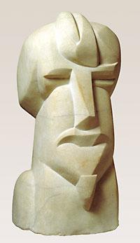 Hieratic Head of Ezra Pound