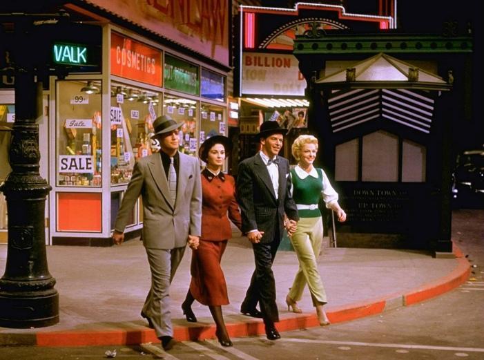 MARLON BRANDO, JEAN SIMMONS, FRANK SINATRA & VIVIAN BLANE (Guys and Dolls)
