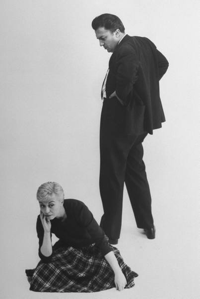 Italian dir. Federico Fellini and actress wife Giulietta Masina