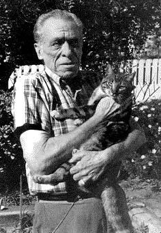Bukowski and cat