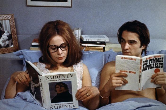 Jean-Pierre Léaud e Claude Jade - Domicílio Conjugal (Domicile Conjugal, François Truffaut, 1970)