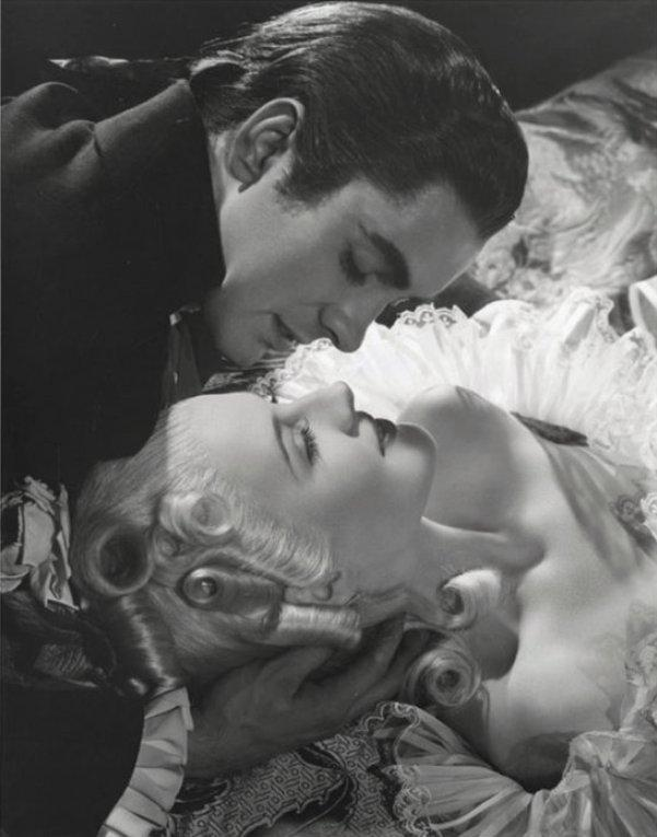 Norma Shearer and Tyrone Power by Laszlo Willinger from Marie Antoinette (1938)