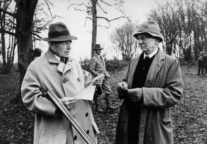 James Mason & John Gielgud in The Shooting Party