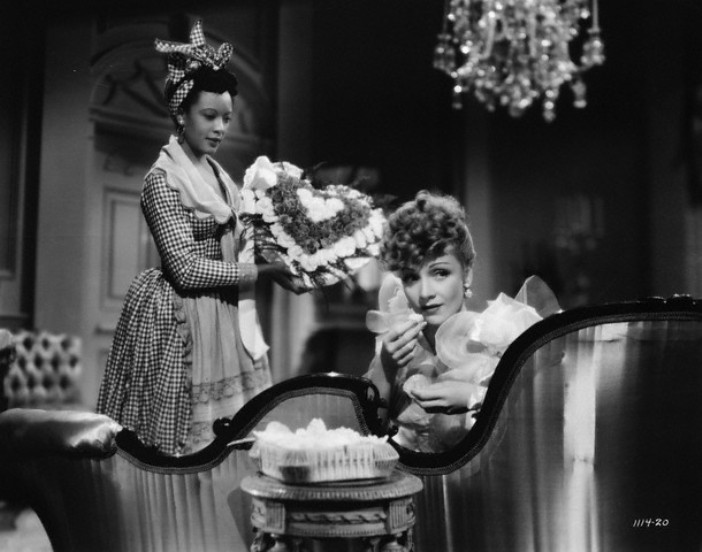 Theresa Harris and Marlene Dietrich in a Scene from The Flame of New Orleans
