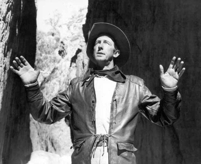 Chips Rafferty in The Phantom Stockman (1953)