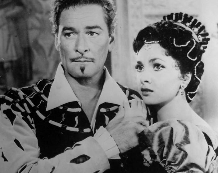 Errol Flynn and Gina Lollobrigida in Crossed Swords (1954)