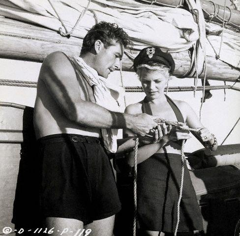 Errol Flynn and Rita Hayworth Tying Knots