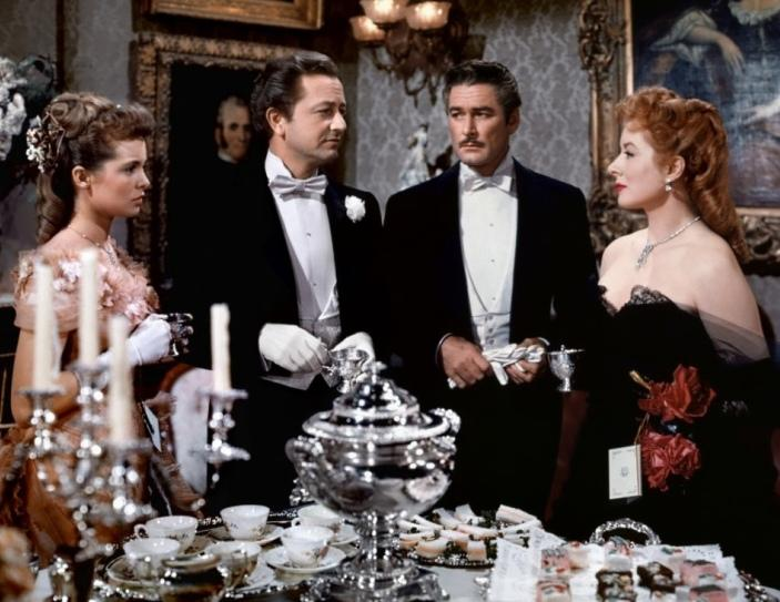 Greer Garson,  Janet Leigh, Robert Young, Errol Flynn (That Forsyte Woman)