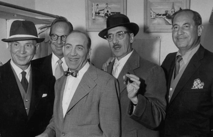 Harpo Marx, Zeppo Marx, Chico Marx, Groucho Marx, and Gummo Marx