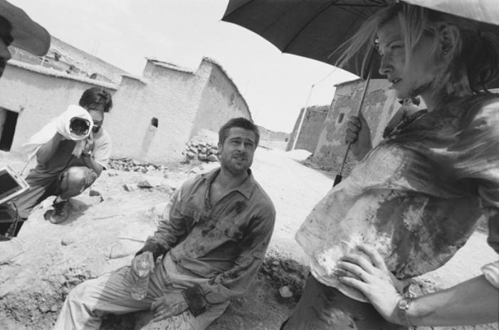 Brad Pitt e Cate Blanchett no set de Babel, Ouarazazate, Marrocos, 2005