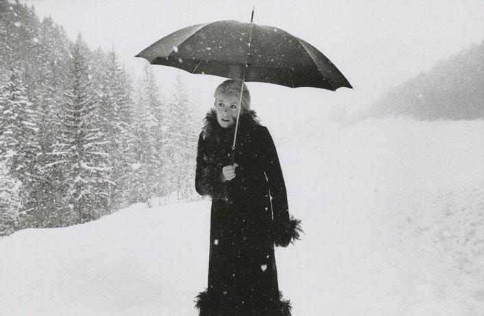 Catherine Deneuve no set de A Sereia do Mississippi (La Sirène du Mississipi) - Grenoble, França, 1969