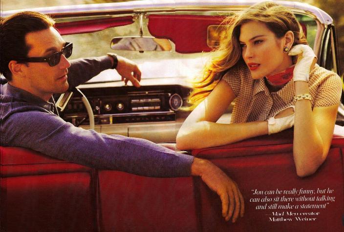 Catherine McNeil & Jon Hamm by Mario Testino (Vogue - 2008)