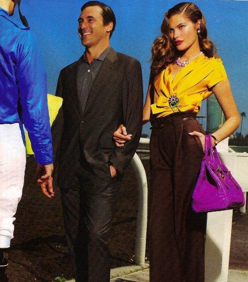 Catherine McNeil & Jon Hamm by Mario Testino (Vogue - December - 2008)