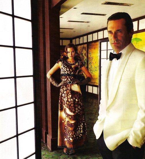 Catherine McNeil & Jon Hamm by Mario Testino (Vogue - Dezembro - 2008)