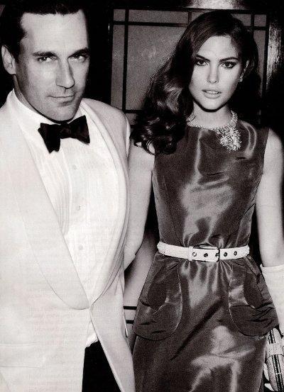Catherine McNeil & Jon Hamm by Mario Testino (Vogue - Dezembro )