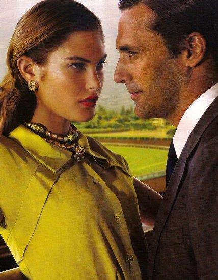 Catherine McNeil & Jon Hamm by Mario Testino