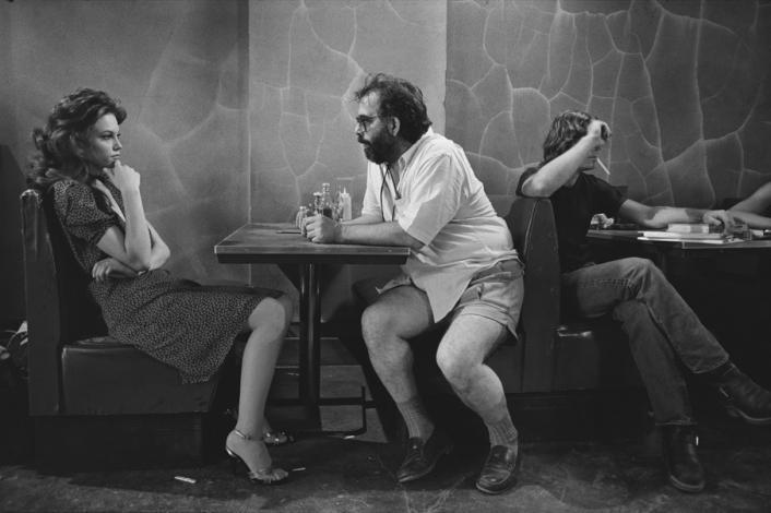 Diane Lane e Francis Ford Coppola no set de O Selvagem da Motocicleta (Rumblefish) - Tulsa, Oklahoma, 1983