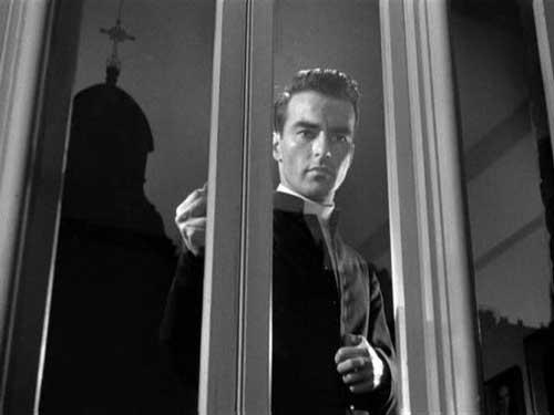 Montgomery Clift em A Tortura do Silêncio (I Confess, Alfred Hitchcock, 1953)
