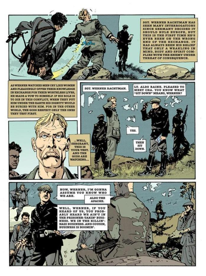 comics inglourious basterds graphic novel page 2