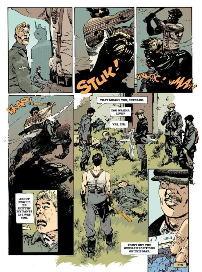 comics inglourious basterds graphic novel page 6