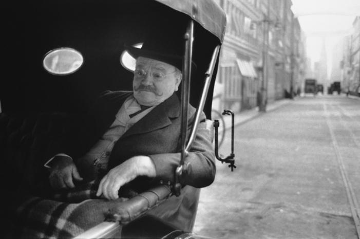 James Cagney no set de Na Época do Ragtime -  Londres, Inglaterra, 1980