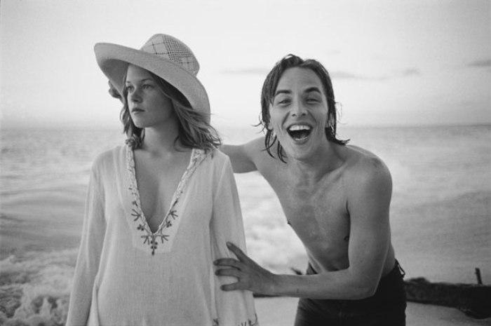 Melanie Griffith e Don Johnson no set de Um Lance no Escuro (Night Moves) - Florida, EUA, 1975