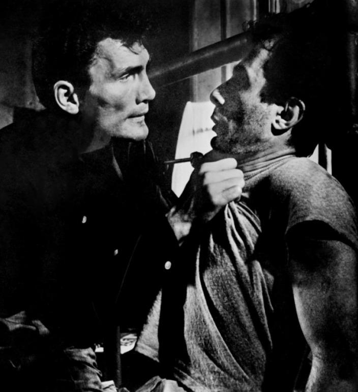 Panic in the Streets -  Jack Palance & Guy Thomajan