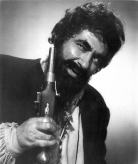 Robert Newton em Barba Negra, O Pirata (Blackbeard - The Pirate, Raoul Walsh, 1952)