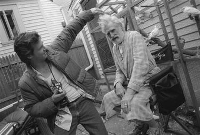 Jeff e Lloyd Bridges no set de Contagem Regressiva (Blown Away) - Boston, EUA, 1993