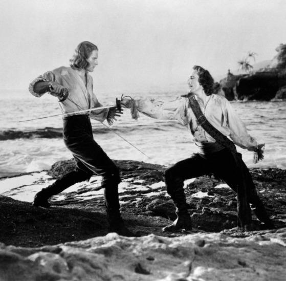 Errol Flynn & Basil Rathbone em Capitão Blood (Captain Blood, Michael Curtiz, 1935)