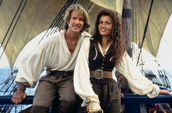Matthew Modine & Geena Davis em A Ilha da Garganta Cortada (Cutthroat Island, Renny Harlin, 1995)