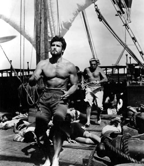 Stevve Reeves em O Rei dos Piratas (Morgan il Pirata, André De Toth/Primo Zeglio, 1960)