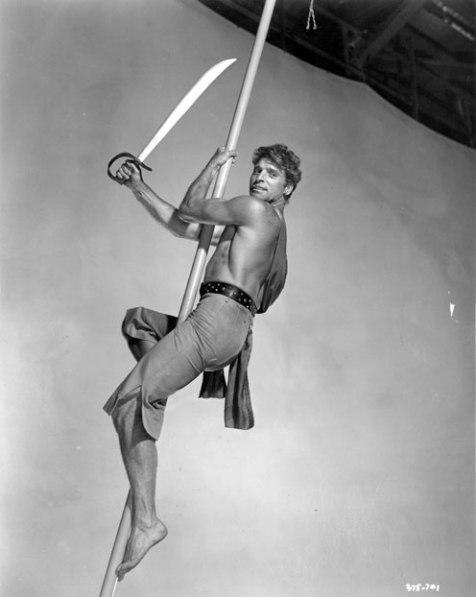 Burt Lancaster em O Pirata Sangrento (The Crimson Pirate, Robert Siodmak, 1952)