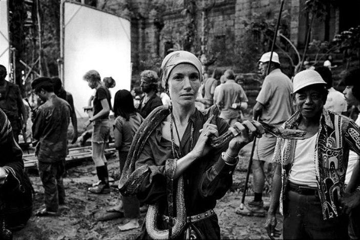 Auto-retrato no set de Apocalypse Now - Filipinas, 1976