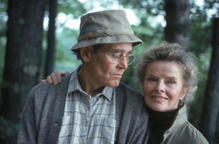 Hebpurn and Fonda in On Golden Pond