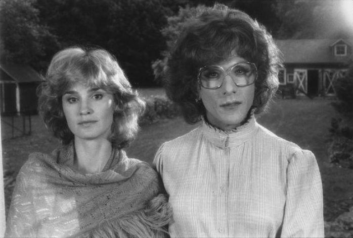 Jessica Lange and Dustin Hoffman on Set, Tootsie, Hurley, New York, 1982