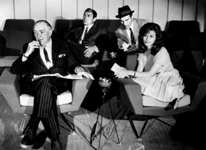 Le Mépris - Jack Palance, Fritz Lang, Michel Piccoli