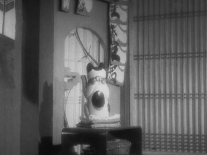 Tange Sazen yowa Hyakuman ryo no tsubo (1935) manekineko